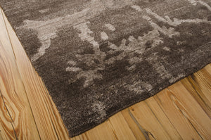 Nourison Silk Shadows Brown Area Rug SHA02 BRN
