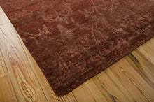 Load image into Gallery viewer, Nourison Silk Shadows Rust Area Rug SHA03 RUS