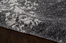 Load image into Gallery viewer, Nourison Silk Shadows Graphite Area Rug SHA14 GRAPH