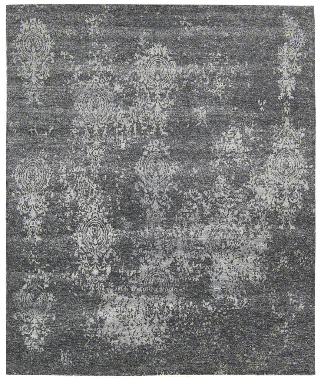 Nourison Silk Shadows Graphite Area Rug SHA14 GRAPH