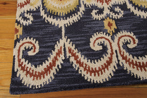 Nourison Siam Indigo Area Rug SIA07 IND (Rectangle)