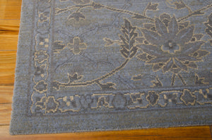 Nourison Silk Infusion Blue Area Rug SIF01 BL (Rectangle)