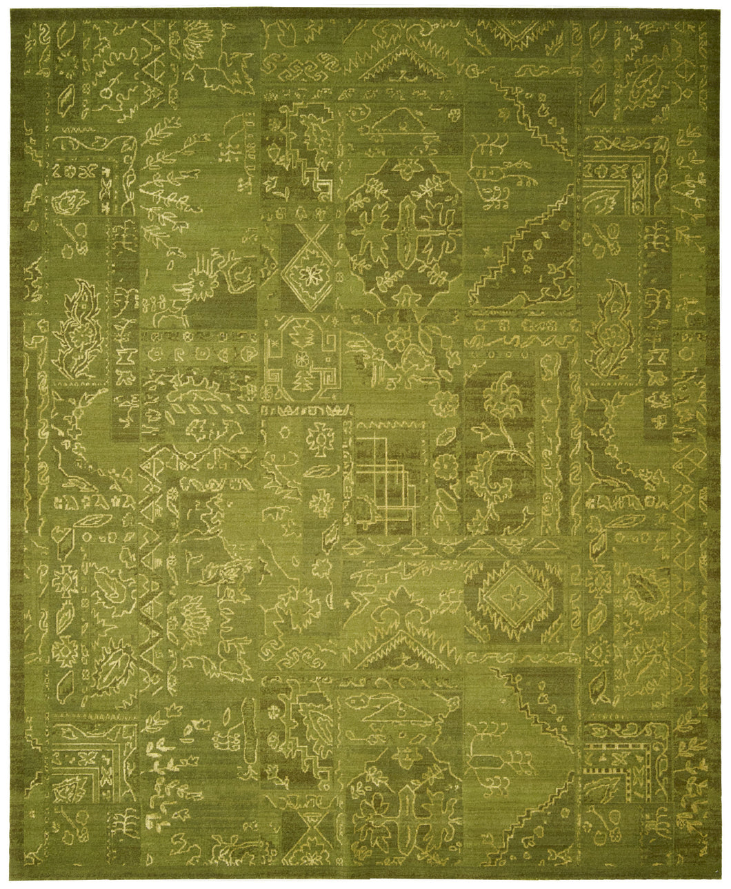 Nourison Silk Infusion Green Area Rug SIF02 GRE