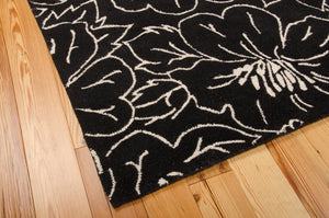 Nourison Skyland Black Ivory Area Rug SKY04 BLKIV (Rectangle)