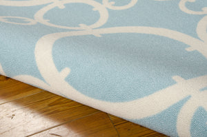 Waverly Sun & Shade Connected Aquamarine Area Rug By Nourison SND02 AQUAM (Rectangle)