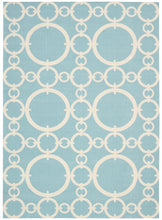 Load image into Gallery viewer, Waverly Sun & Shade Connected Aquamarine Area Rug By Nourison SND02 AQUAM