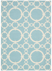 Waverly Sun & Shade Connected Aquamarine Area Rug By Nourison SND02 AQUAM