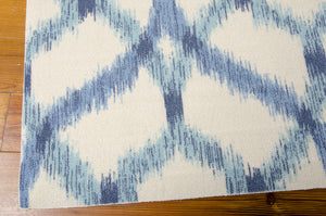Waverly Sun & Shade Izmir Ikat Aegean Area Rug By Nourison SND05 AEGEA (Rectangle)