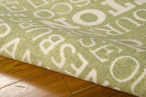 Waverly Sun & Shade Pattern Destinations Wasabi Area Rug By Nourison SND10 WAS (Rectangle)
