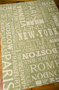 Waverly Sun & Shade Pattern Destinations Wasabi Area Rug By Nourison SND10 WAS