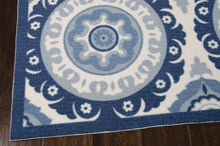 Load image into Gallery viewer, Waverly Sun & Shade Solar Flair Navy Area Rug By Nourison SND16 NAV (Rectangle)