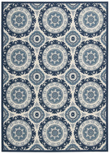 Load image into Gallery viewer, Waverly Sun & Shade Solar Flair Navy Area Rug By Nourison SND16 NAV