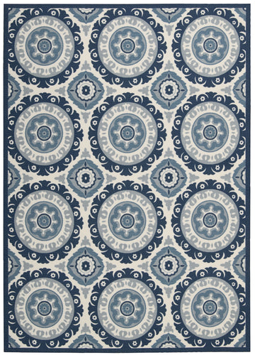 Waverly Sun & Shade Solar Flair Navy Area Rug By Nourison SND16 NAV