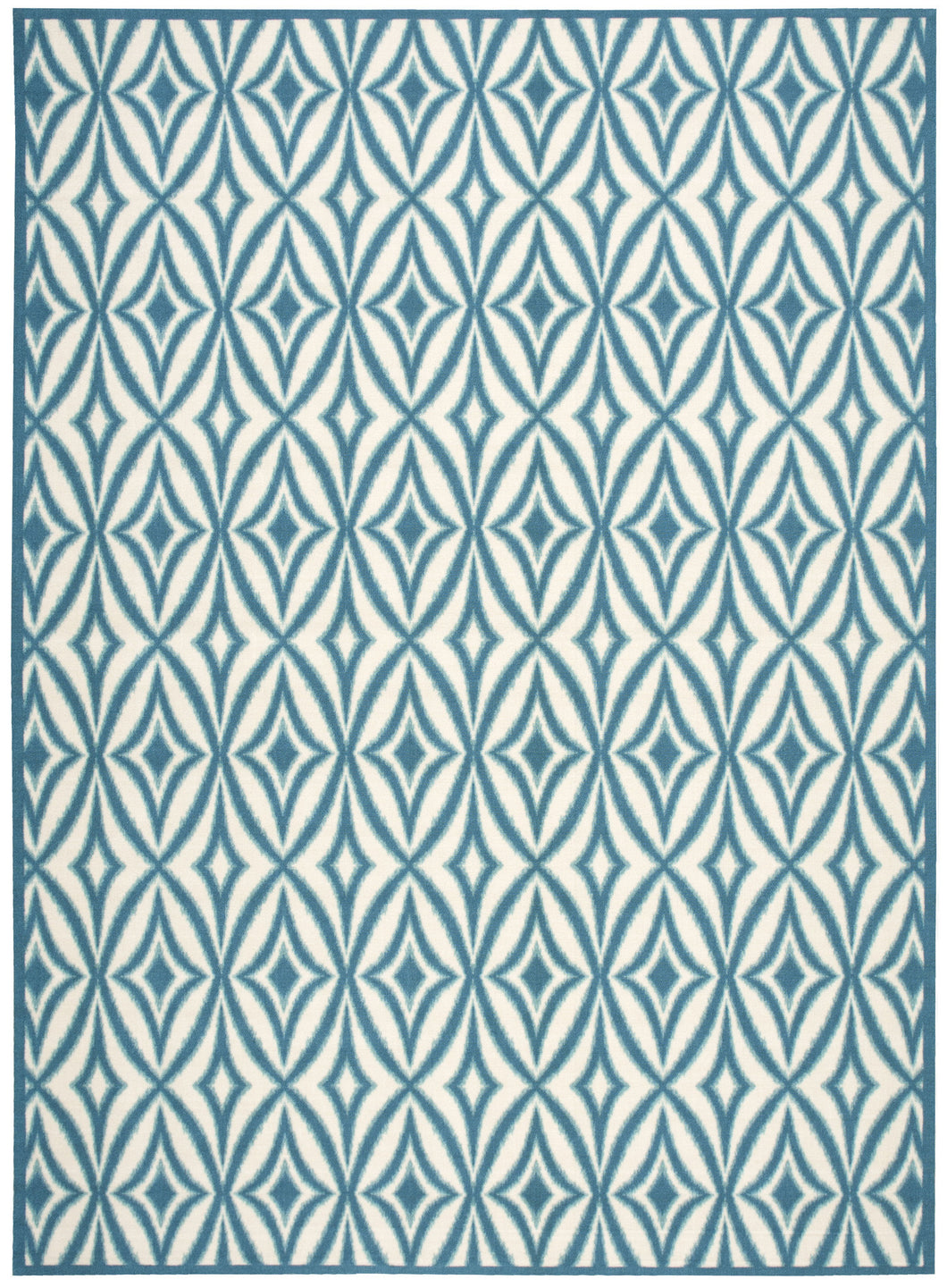 Waverly Sun & Shade Centro Azure Area Rug By Nourison SND19 AZU
