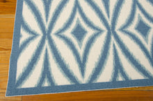 Load image into Gallery viewer, Waverly Sun & Shade Centro Azure Area Rug By Nourison SND19 AZU (Rectangle)