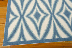 Waverly Sun & Shade Centro Azure Area Rug By Nourison SND19 AZU (Rectangle)