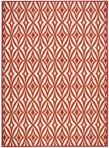 Waverly Sun & Shade Centro Campari Area Rug By Nourison SND19 CAMPR
