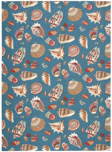 Waverly Sun & Shade Low Tide Azure Area Rug By Nourison SND22 AZU