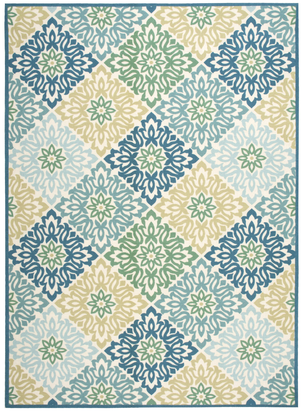 Waverly Sun & Shade Sweet Things Marine Area Rug By Nourison SND23 MARIN