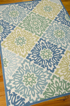 Load image into Gallery viewer, Waverly Sun & Shade Sweet Things Marine Area Rug By Nourison SND23 MARIN