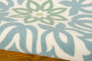 Waverly Sun & Shade Sweet Things Marine Area Rug By Nourison SND23 MARIN (Rectangle)