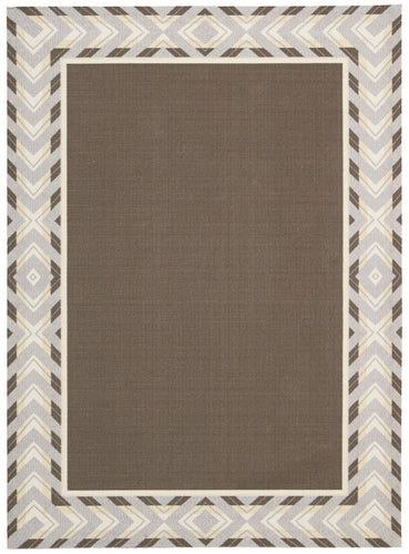 Waverly Sun & Shade Full Of Zip Espresso Area Rug By Nourison SND28 ESPRE