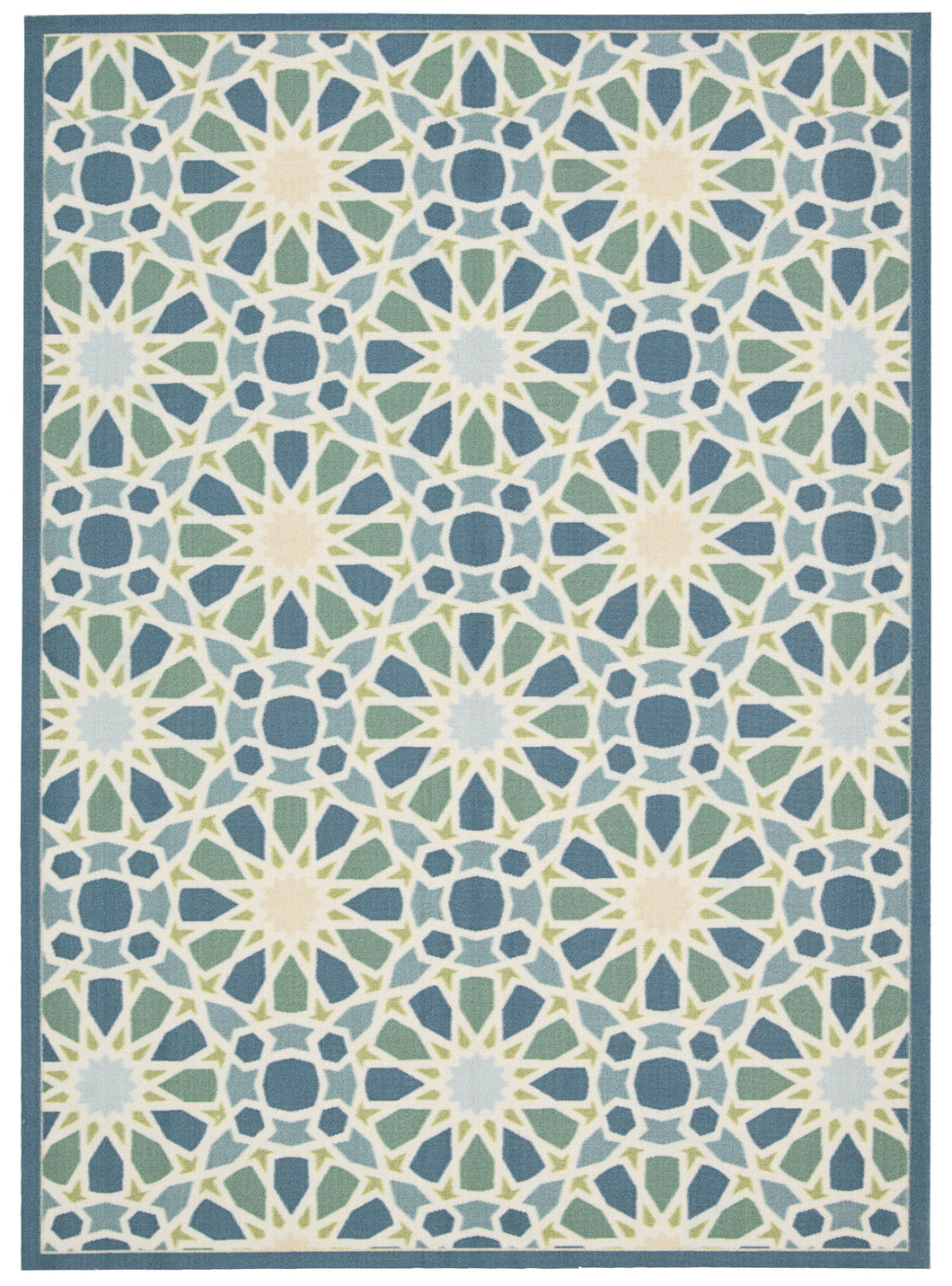Waverly Sun & Shade Starry Eyed Porcelain Area Rug By Nourison SND29 PRCLN