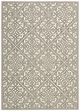 Load image into Gallery viewer, Waverly Sun & Shade Lace It Up Stone Area Rug By Nourison SND31 STONE