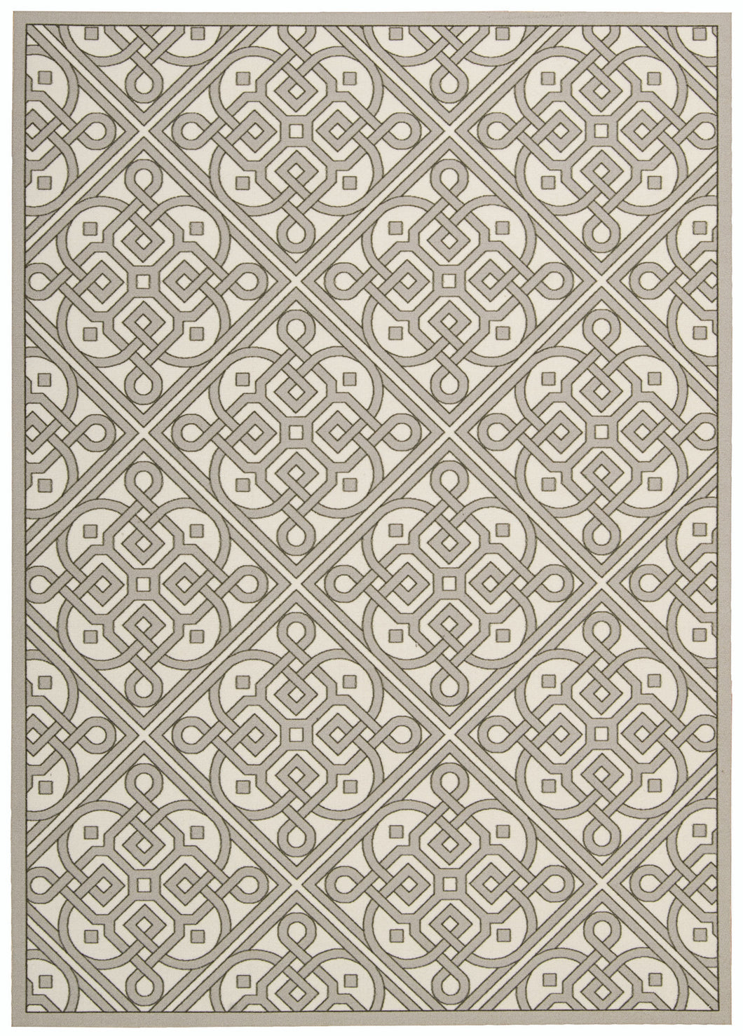 Waverly Sun & Shade Lace It Up Stone Area Rug By Nourison SND31 STONE