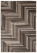 Load image into Gallery viewer, Nourison Soho Mocha Blue Area Rug SOH01 MOCBL