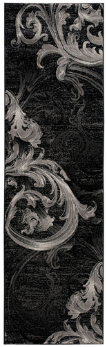 Nourison Soho Black Grey Area Rug SOH05 BLKGY