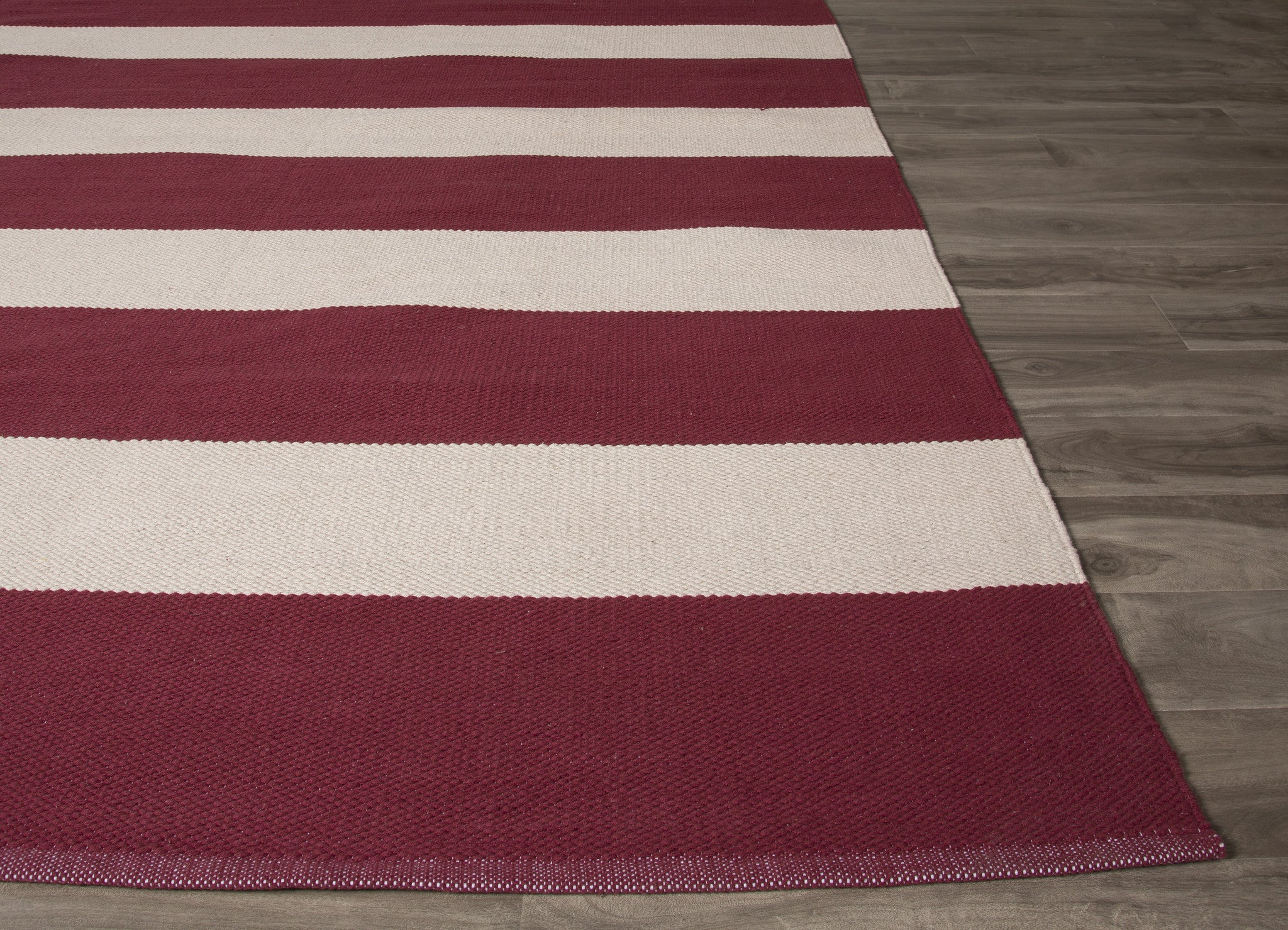Jaipur rugs flatweave stripe pattern red white cotton area for Red and white striped area rug