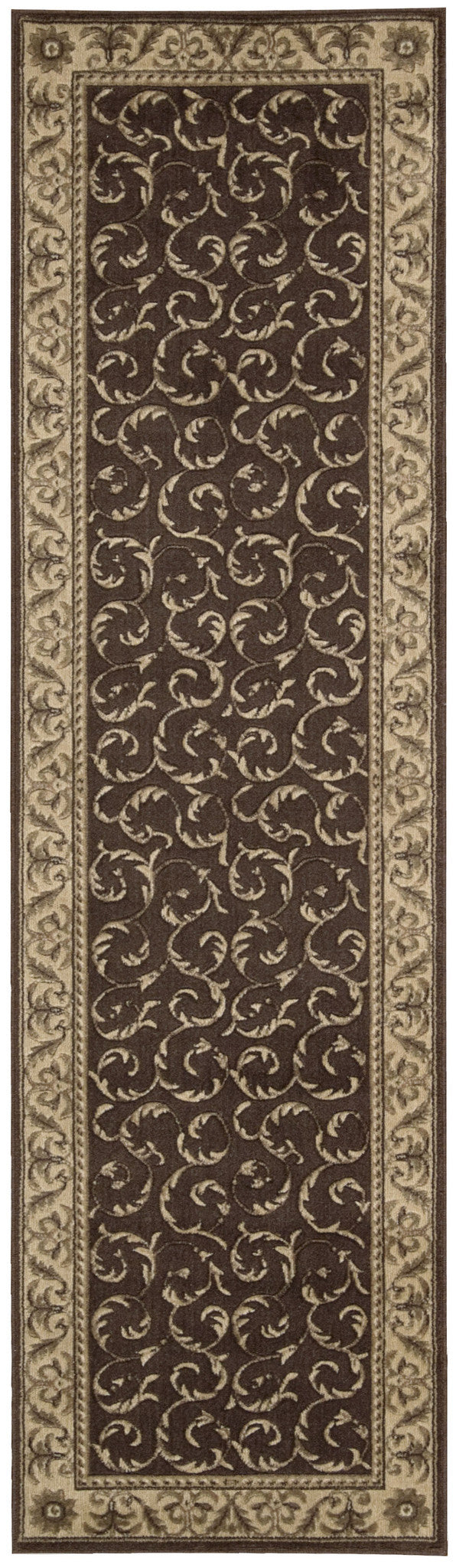 Nourison Somerset Brown Area Rug ST02 BRN