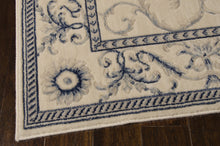 Load image into Gallery viewer, Nourison Somerset Ivory Blue Area Rug ST02 IVBLU (Rectangle)