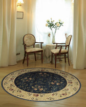 Load image into Gallery viewer, Nourison Somerset Navy Area Rug ST05 NAV (Round)