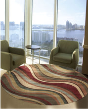 Load image into Gallery viewer, Nourison Somerset Multicolor Area Rug ST81 MTC (Round)