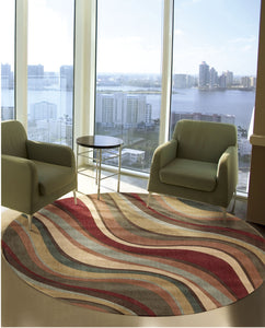 Nourison Somerset Multicolor Area Rug ST81 MTC (Round)