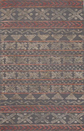 Jaipur Rugs Modern Tribal Pattern Gray Wool Area Rug