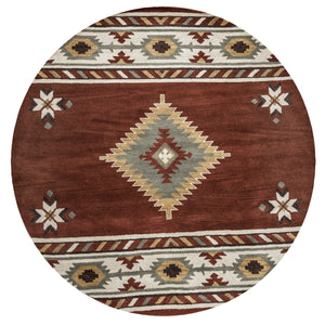 Rizzy Home Southwest SU1822 Rust Southwest/Tribal Area Rug