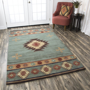 Rizzy Home Southwest SU2008 Gray/Blue Southwest/Tribal Area Rug