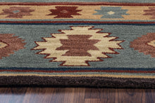 Load image into Gallery viewer, Rizzy Home Southwest SU2008 Gray/Blue Southwest/Tribal Area Rug