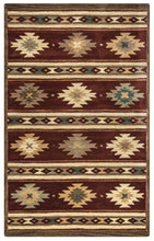 Load image into Gallery viewer, Rizzy Home Southwest SU2012 Burgundy Southwest/Tribal Area Rug