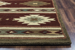 Rizzy Home Southwest SU2012 Burgundy Southwest/Tribal Area Rug