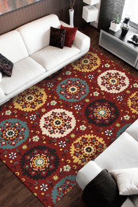 Nourison Suzani Red Area Rug SUZ01 RED
