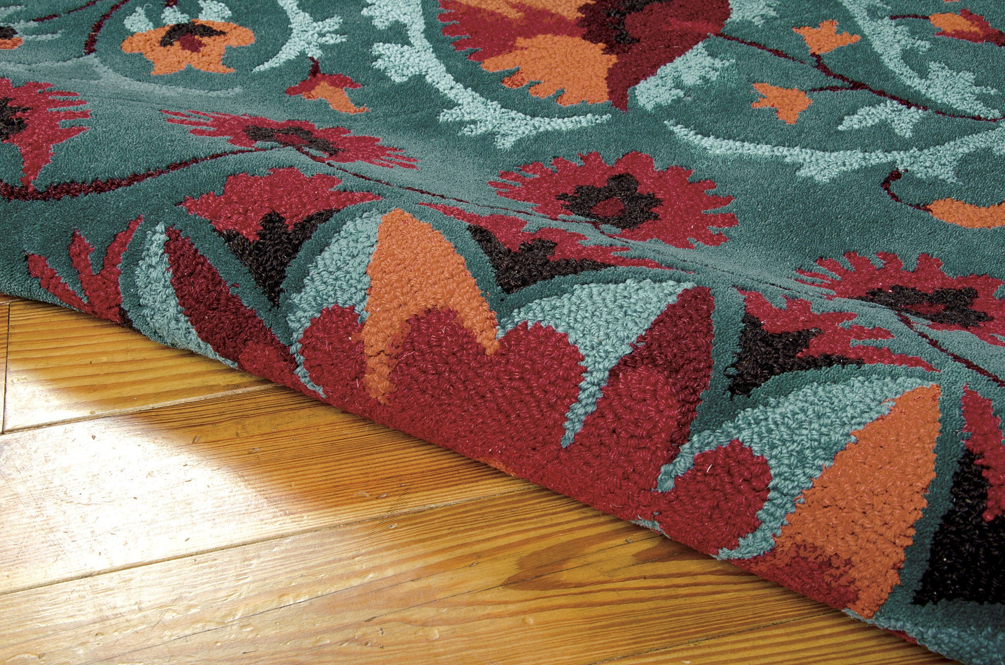 Nourison Suzani Teal Area Rug Suz02 Tl Rectangle Rugmethod