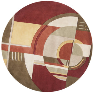 Kas Rugs Signature 9134 Rust/Coffee Art Deco Area Rug