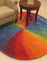 Load image into Gallery viewer, EORC Hand-tufted Wool Lollipop Contemporary Abstract Swirl Rug