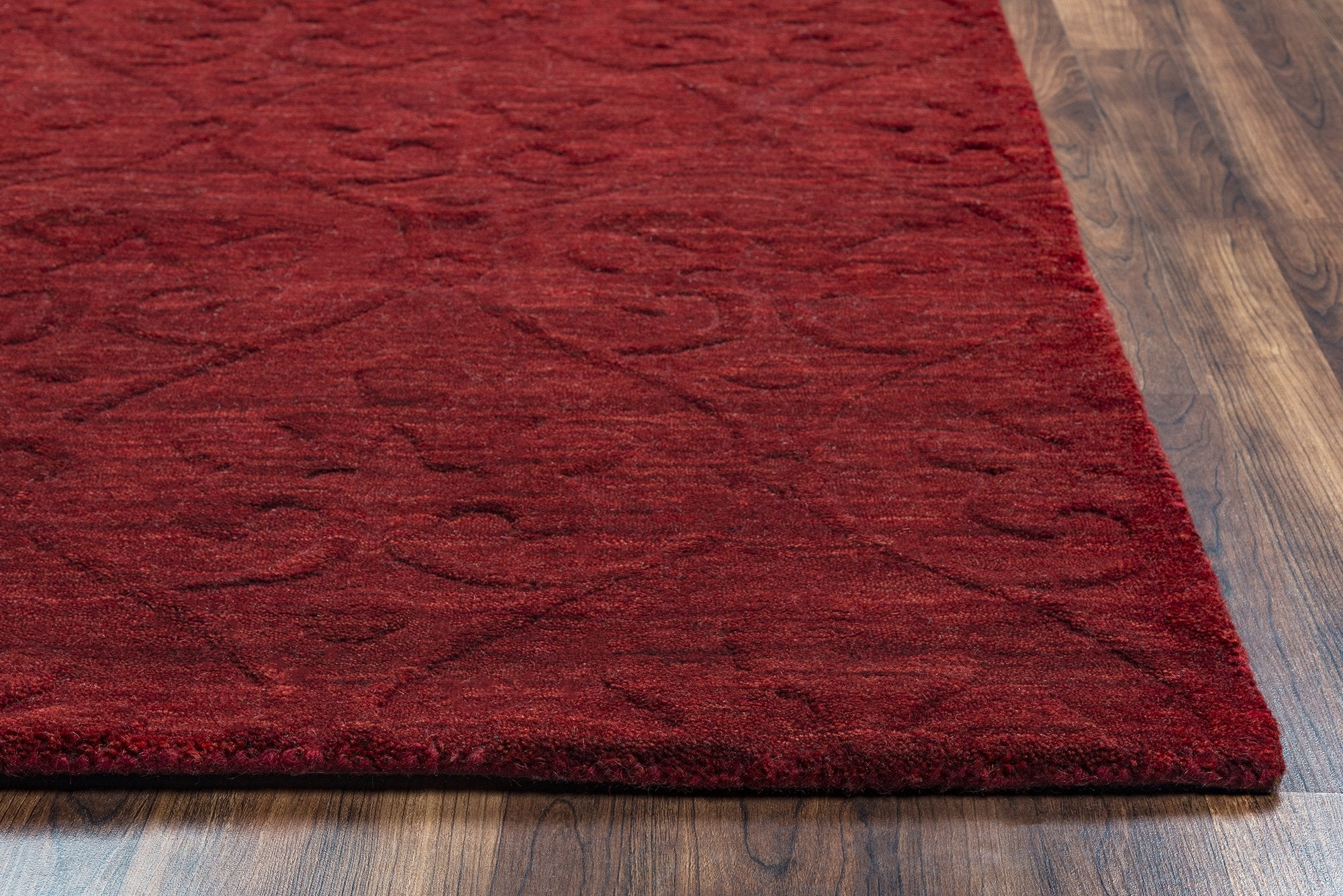 Rizzy Home Technique Tc8268 Burgundy Solid Area Rug