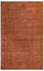 Rizzy Home Technique TC8270 Rust Solid Area Rug