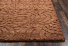 Load image into Gallery viewer, Rizzy Home Technique TC8270 Rust Solid Area Rug